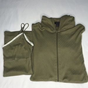 Express two pc set cardigan with hoodie & camisole